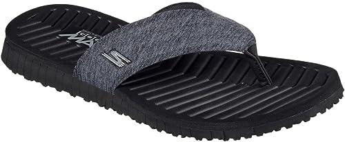 Skechers Men& 039;s GO FLEX Southbay Flip-Flop,schwarz,US 12 M