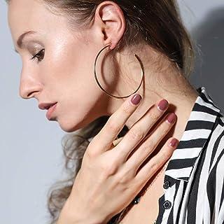 Open Round Classic Hoop Earrings, Polished Round Big Hoop Earrings for Women Teen Girls, Lightweight Earrings