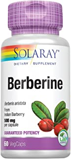 Solaray Berberine 500mg | from Indian Barberry Root Extract | Digestive & Immune Function Support | AMPK Metabolic Activat...