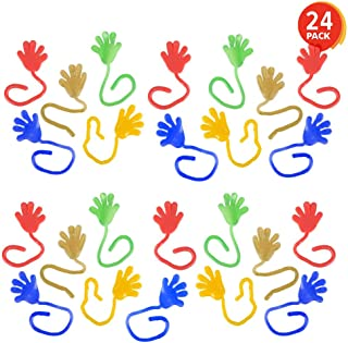 Stretchy Sticky Fingers with Long String in Assorted Colors The Dreidel Company Glitter Sticky Hands Vinyl
