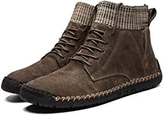 Martin Boots,Men Work Shoes Composite Toe Construction Boots Leather Insulated Rubber Sole Martin Boots Casual Dress Boots Winter Warm Leather Boots Snow Plush Ankle Comfortable Shoes