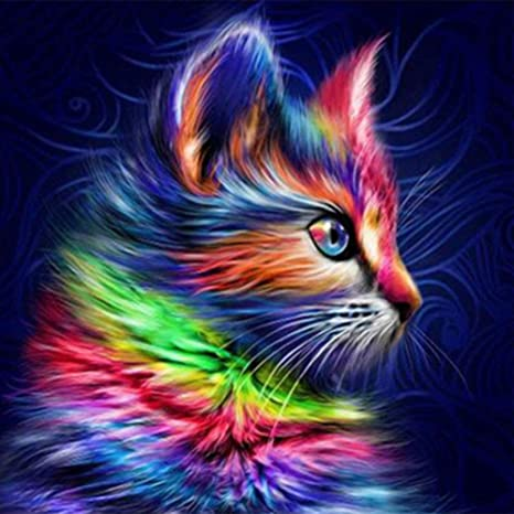 Full Drill 5D Diamond Painting Cat Art Handicraft Embroidery Cross Stitch Kits