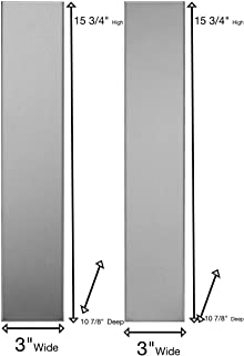 Universal Stainless Steel Over the Range L Shaped Microwave Fill Filler Kit - Fills a 36