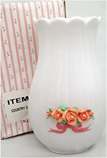 Giftco, Inc Country Cottage Porcelain Roses Bud Vase