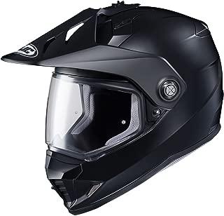 HJC Solid Mens Semi-Flat DS-X1 Street Bike Motorcycle Helmet - Matte Black Large