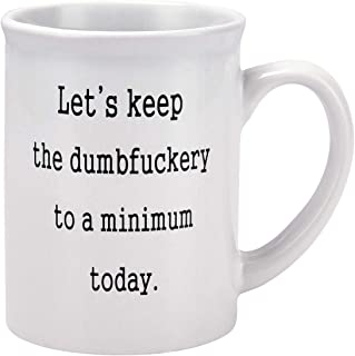 Funny Coffee Mugs Let's Keep To A Minimum Today Coffee Tea Cup with Funny Sayings - 20 Ounce Novelty Gift Funny Gift for Christmas Thanksgiving Festival Friends Men Women