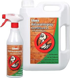 Envira Holzwurm-Spray - Holzwurm Ex Gegen Holzschädigende Insekten Mit Langzeitschutz - Auf Wasserbasis - 500 ml  2L