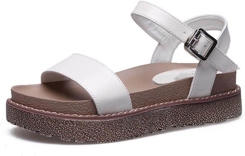RuiWortwlbung weibliche Sandalen dicke Kruste Muffin mit flachen Schuhen in wilden Studenten Schuhe