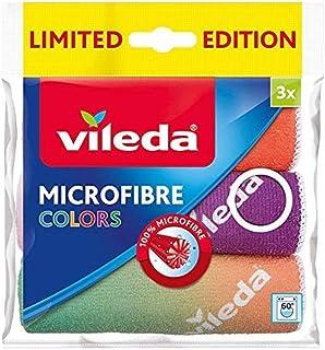 Vileda Colors Design III uniwersalna ściereczka z mikrofibry, różne kolory, 3 sztuki w opakowaniu