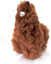 【ALPACA BROWN 28cm】アルパカぬいぐるみ置き物 アルパカ毛 100% ブラウン1個 約28cm ペルー製の民芸品おみやげ