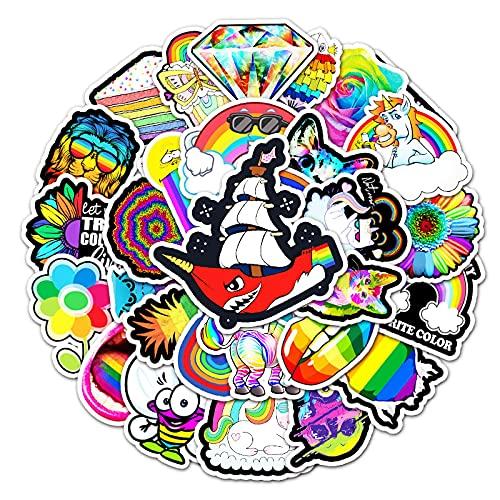 WYZNB 50 unids Color Ins Wind Cartoon Sticker Personalidad Creativa Diy Decoración Portátil Impermeable Remoble Scooter Vinilo Graffiti Pegatina
