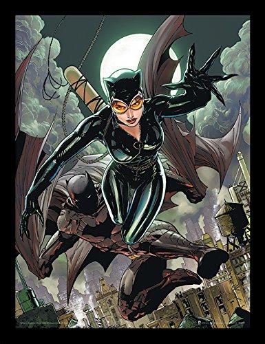 Batman 30 x 40 cm Gato y Bate impresión enmarcada