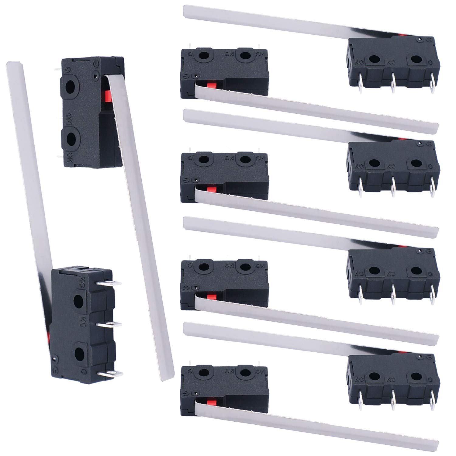 Twidec 10Pcs Mini Micro Ranking TOP9 Limit Switch 5A SPDT 250V 125 Outlet sale feature 1NO 1N AC