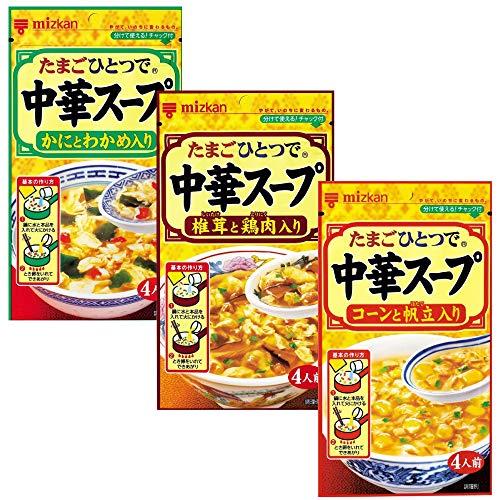 ミツカン 中華スープ かにとわかめ入り 30g かにとわかめ入り 30g 椎茸と鶏肉入り 35g お試しセット