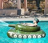 Noa Juguetes de piscina inflables, con aspersor de agua, tanque, juego de verano, con pistola de pulverización, flotador, diversión de verano para niños y adultos
