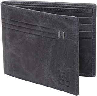 WELBAWT Latest Sleek and Stylish 100% Genuine Leather Bi-Folded Wallet for Men (Color - Grey)