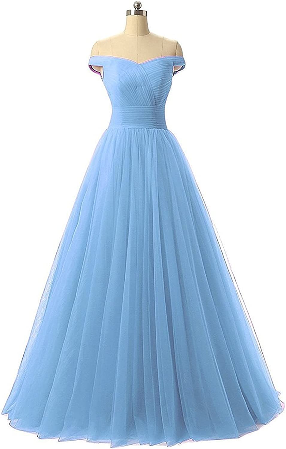 Yc Women's Aline Tulle Bridesmaid Dresses Long Evening Party Prom Dresses