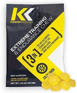 KRAMPKRUSHER Vegan Energy - Extreme Training Endurance Chews w/Electrolytes, Dextrose Fast Fuel, Sea Salt, Calcium Lactate...