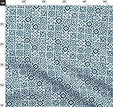 Fliese, Keramisch, Muster, Geometrisch, Spanisch, Blau,