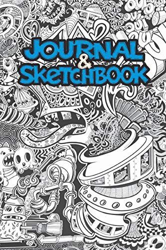 Doodle Journal and Sketchbook: 120 Blank pages - 6 x 9