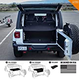 GPCA Cargo Cover LITE Compatible with Wrangler JL 4DR Sport Sahara Rubicon Unlimited 2018-2021 (Under Hardtop)