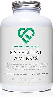 LLS aminoácidos esenciales (EAA) | 300 pastillas / 60 porciones | 5-10g por porción | 8 aminoácidos esenciales absorbibles | Producido en el Reino Unido con certificación GMP