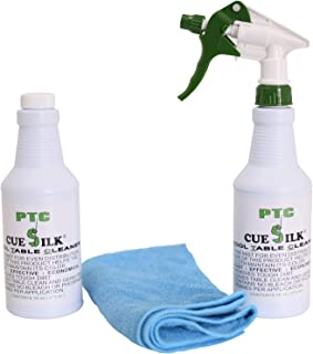 Sterling Gaming Non-Aerosol Pool Table Felt Cleaner, Brushless - 16oz, with Microfiber Cloth