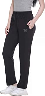 CUPID Regular Fit Cotton Plain Track Pant, Lower, Joggers, Night Pant, Lounge Wear and Daily Use Gym Wear for Women