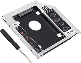Dainty Hard Drive Caddy Tray 9.5mm Universal SATA 2nd HDD HD SSD Enclosure Hard Drive Caddy Case Tray, for 9.5mm Laptop CD/DVD-ROM Optical Bay Drive Slot (for SSD and HDD)