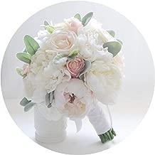 Flores de Seda de Marfil Peonías Ramo de Novia Rosas a la Venta Ramo de Novia Dama de Honor con Flores Decoración