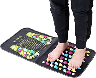 Foot Massage Mat with Stone, Reflexology Foot Massager Mat for Pain Relief Stone Foot Mat