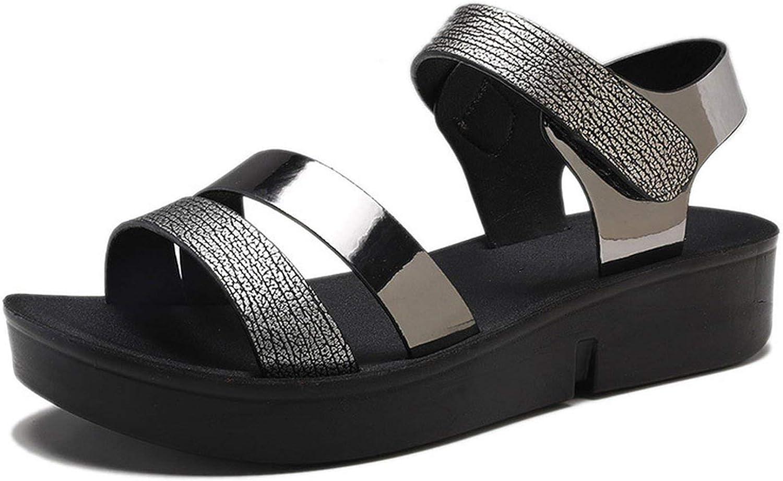 Glad You Came 2019 Summer Women Sandals Comfortable Leather Flat Comfort Sandals Lady shoes Woman golden Punk Sandalias