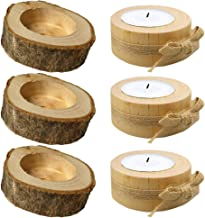 KESYOO 6pcs Tea Light Candle Holders Personalized Wooden Candle Holder for Rustic Wedding Christmas Party Birthday Holiday...