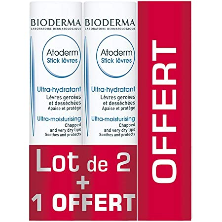 ATODERM STICK LEVRES 4 GR LOT DE 3