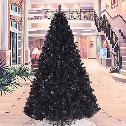 Barm Albero Pieno di Natale Artificiale da 7 Piedi 210 cm, Decorazioni Natalizie per la Festa di Natale Albero in Miniatura Decortaion Nero 7 Piedi / 210 cm