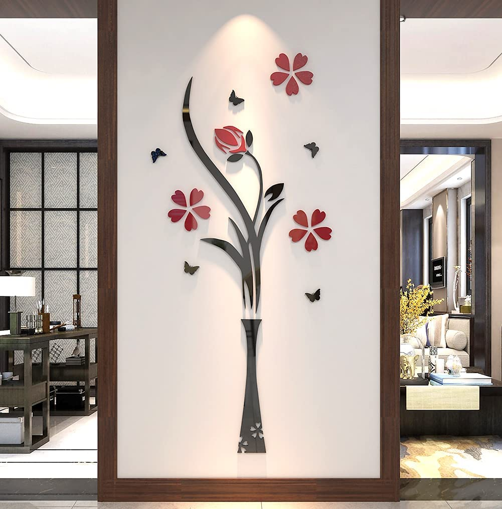 Ranking TOP10 Kinhshion Arlington Mall 3D Vase Mural Wall Sticker Used for Indoor Roo Living
