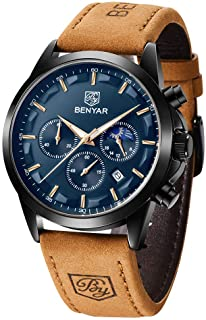 BENYAR Men's Watches Waterproof Sport Military Watch for Men Multifunction Chronograph Black...