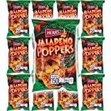HERR'S Jalapeno Poppers Flavored Cheese Curls, Gluten-Free, 1oz Bag (Pack of 12, Total of 12 Oz)