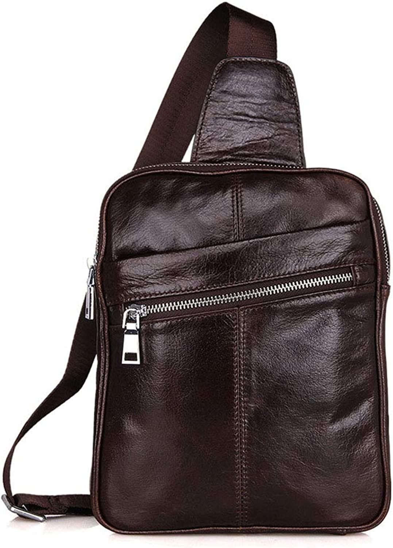 Aihifly Aihifly Aihifly Herren Leder Brusttasche im Freien Brusttasche Schultertasche Travel Daypack Rucksack (Farbe   Braun) B07H78WX58 093465