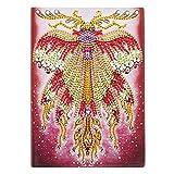 Pintura con Diamantes Cuaderno A5 para Manualidades Mariposas Blanco Diario Secreto para Niñas Cuaderno A5 Hojas Blancas Bloc para Punto de Cruz 50 Hojas 120 Páginas