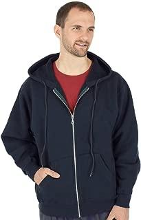 Men's 100% Cotton Zip Up Heavyweight Sweatshirt