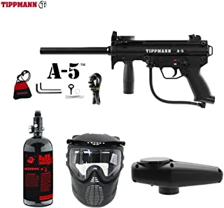 MAddog Tippmann A5 A-5 Beginner HPA Paintball Gun Package