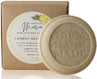 Champú sólido para cabello graso artesanal y ecológico - 100% natural y vegano. Sin sulfatos ni parabenos.