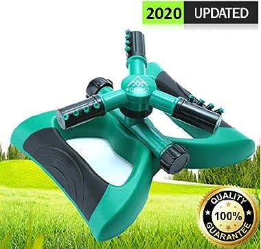 Lawn Sprinkler Garden Sprinkler -2020 Updated, Automatic 360 Rotating Adjustable Large Area, Water Sprinkler for Kids Yard Ir