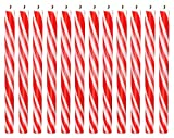 Biedermann & Sons Candy Cane Striped Taper Candles, 12-Inch, Box of 12