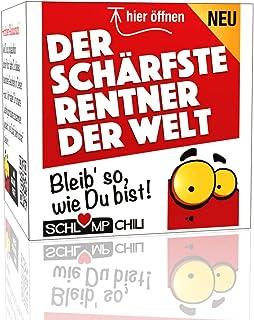 Schlump-ChiliDer schärfste Rentner der Welt - ein witziges Geschenk Set für Männer! Ein cooles Präsent für Herren zum Ausstand, unRuhestand oder zur Rente 1 Stk.