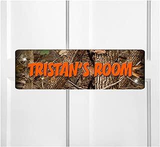 Onestopairbrushshop Personalized Kids Room Door Sign-Camouflage Bedroom Door Sign-Room Plaque