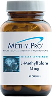 MethylPro L-Methylfolate 15mg 30 Capsules - No Fillers, Professional Strength 15000mcg Active Folate, 5-MTHF for Mood, Homocysteine Methylation + Immune Support, Non-GMO + Gluten-Free (30 Capsules)