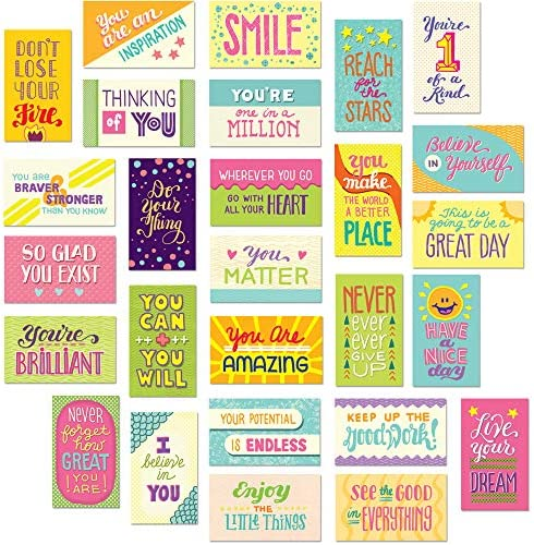 Youngever 300 Pack Motivational Quote Cards 100 Unique Inspirational Designs Cards Business product image