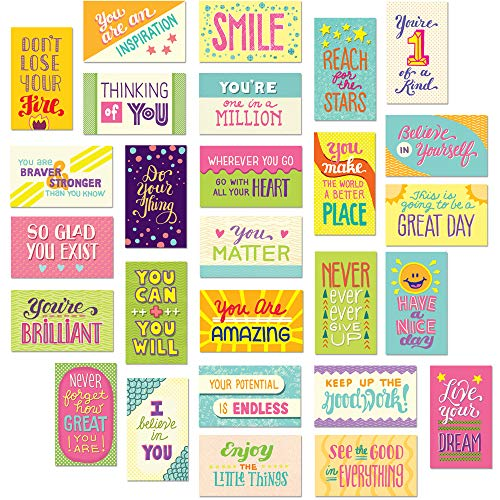 Youngever 300 Pack Motivational Quote Cards, 100 Unique Inspirational Designs Cards, Business Card Sized Encouragement Cards, Gifts for Employees, Thinking of You Gifts, Appreciation Cards